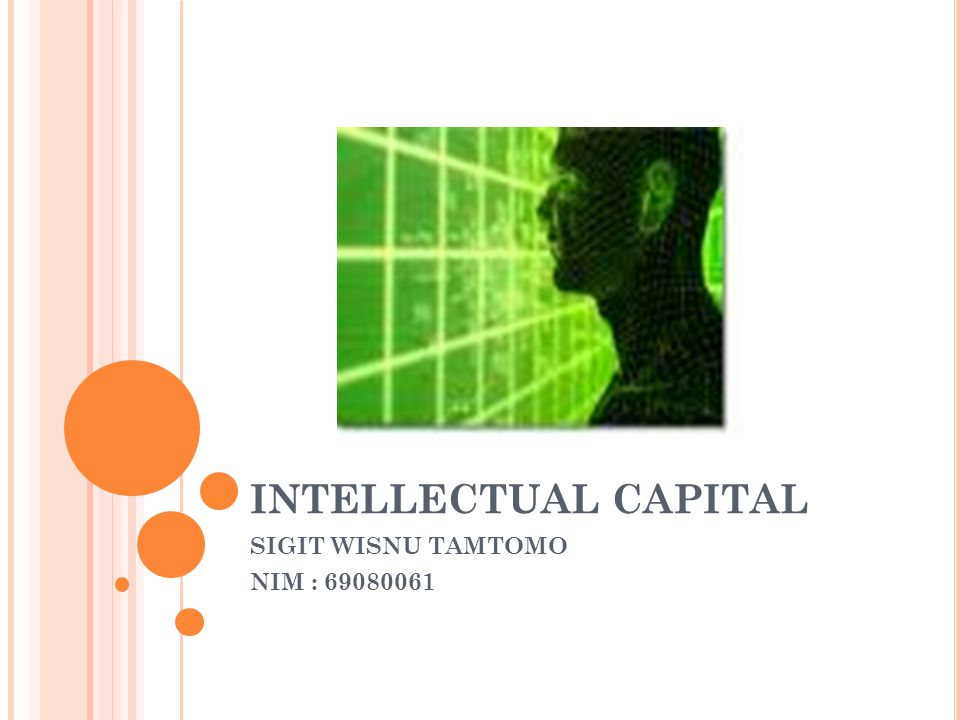 INTELLECTUAL CAPITAL SIGIT WISNU TAMTOMO NIM : 69080061