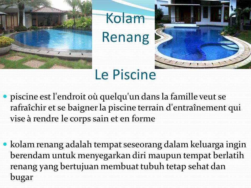 Kolam Renang Le Piscine piscine est l'endroit où quelqu'un dans la famille veut se rafraîchir et se baigner la piscine terrain d'entraînement qui vise