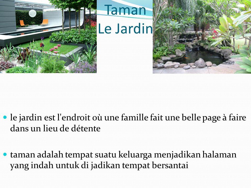 Taman Le Jardin le jardin est l'endroit où une famille fait une belle page à faire dans un lieu de détente taman adalah tempat suatu keluarga menjadik
