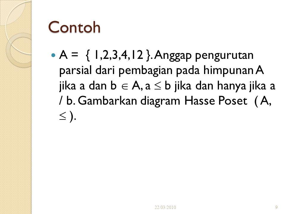 Contoh A = { 1,2,3,4,12 }.