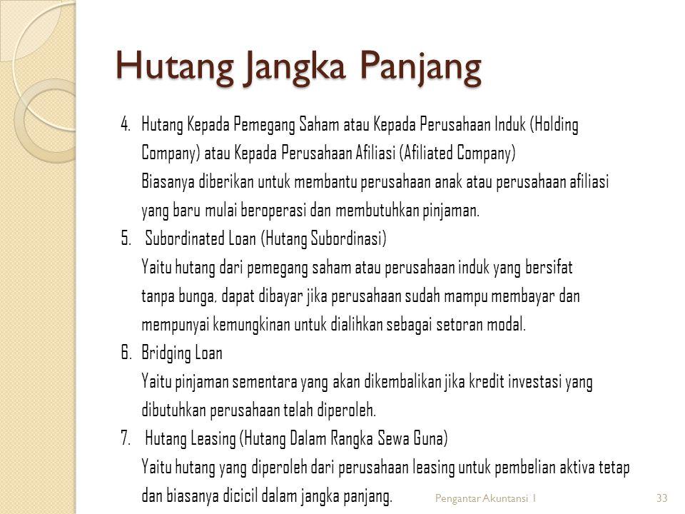 Hutang Jangka Panjang 4.