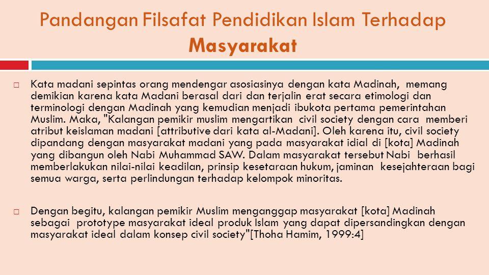  Kata madani sepintas orang mendengar asosiasinya dengan kata Madinah, memang demikian karena kata Madani berasal dari dan terjalin erat secara etimo