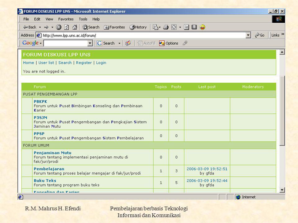 R.M. Mahrus H. EfendiPembelajaran berbasis Teknologi Informasi dan Komunikasi