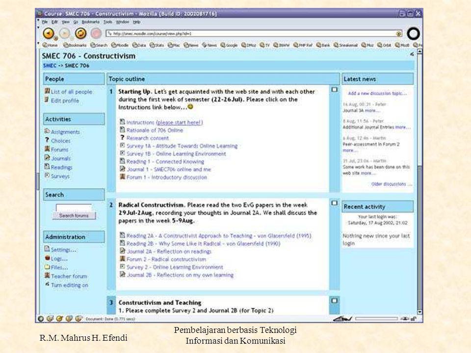 R.M. Mahrus H. Efendi Pembelajaran berbasis Teknologi Informasi dan Komunikasi