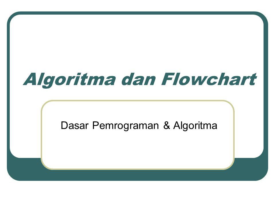 Objectives Setelah menyelesaikan bab ini, anda diharapkan dapat: Mengerti tentang algoritma.