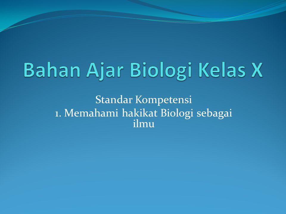 Indikator : 1.Memahami objek-objek biologi dan permasalahannya, 2.
