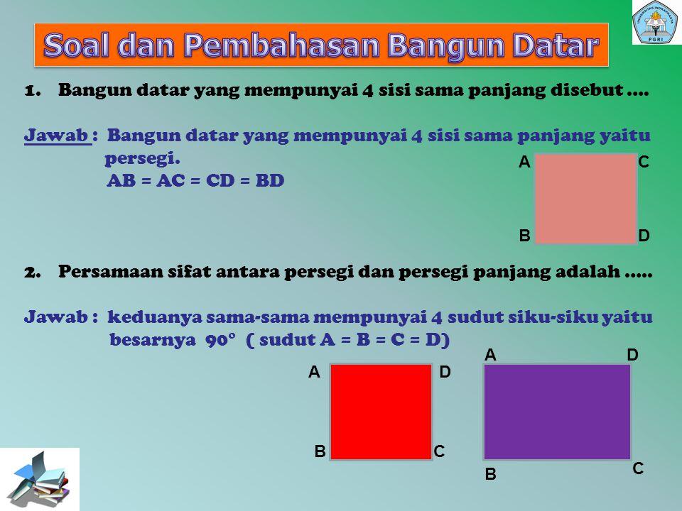 Soal-soal kesebangunan dan kongruen 1.Lihatlah gambar di bawah ini..