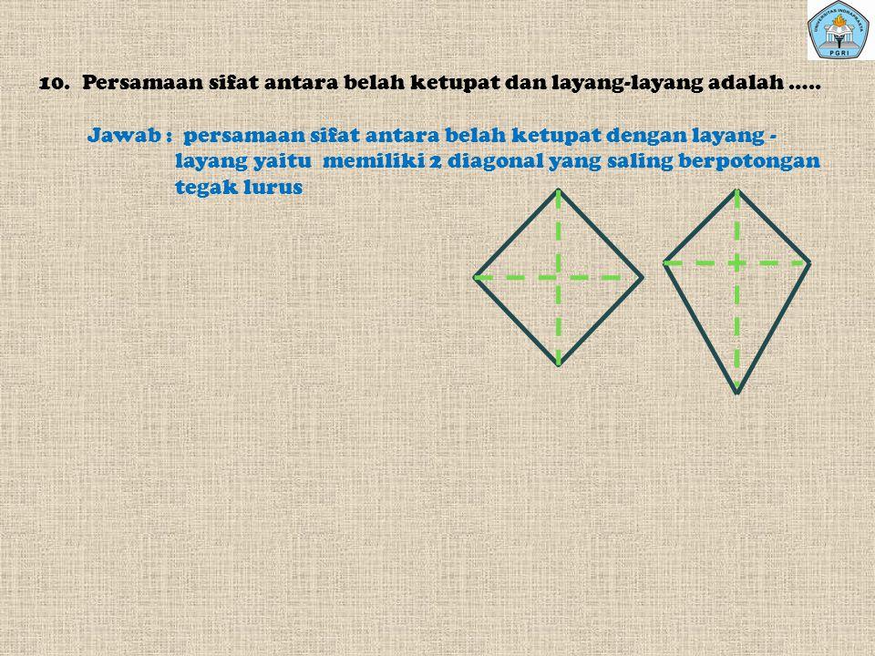 7.Berapakah simetri putar yang terdapat pada Segitiga Sama sisi.