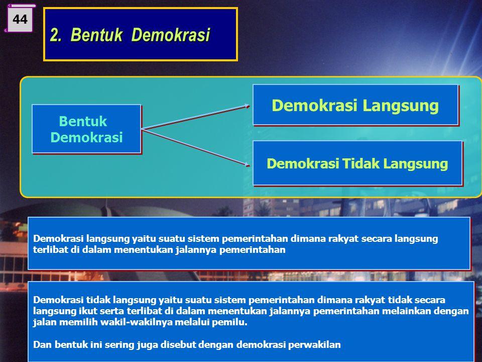 43 Istilah demokrasi berasal dari bahasa Yunani, secara etimologi demokrasi berasal dari kata demos dan kratein yaitu demos artinya rakyat dan kratein