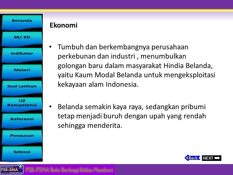 Bidang Pendidikan Sekolah-sekolah di Jawa didirikan pada tahun 1840-an. Beberapa sekolah mulai didirikan antara lain : a. Sekolah Rakyat Kelas Dua (ve