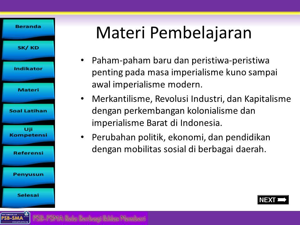 Standar Kompetensi Menganalisis perkembangan ilmu pengetahuan dan teknologi pada abad ke-20 Kompetensi Dasar 2.1 Menganalisis perkembangan masyarakat