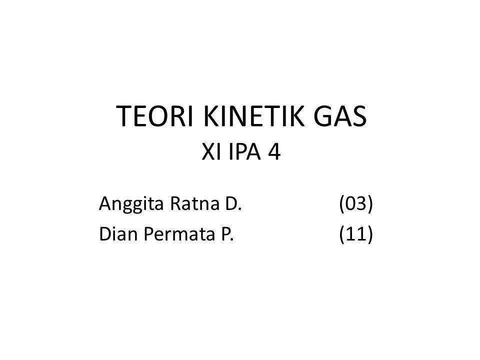 TEORI KINETIK GAS XI IPA 4 Anggita Ratna D.(03) Dian Permata P.(11)