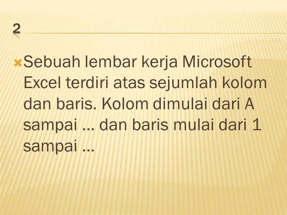  Ekstensi file microsoft excel 2003 adalah ….