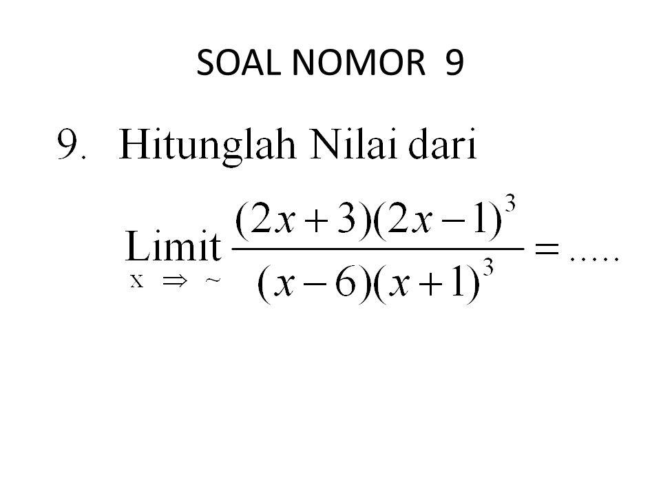 SOAL NOMOR 9