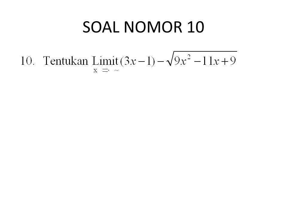 SOAL NOMOR 10