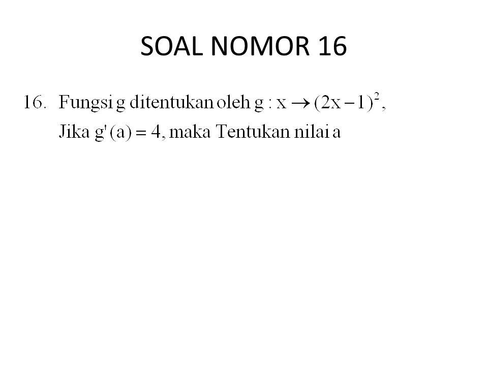 SOAL NOMOR 16