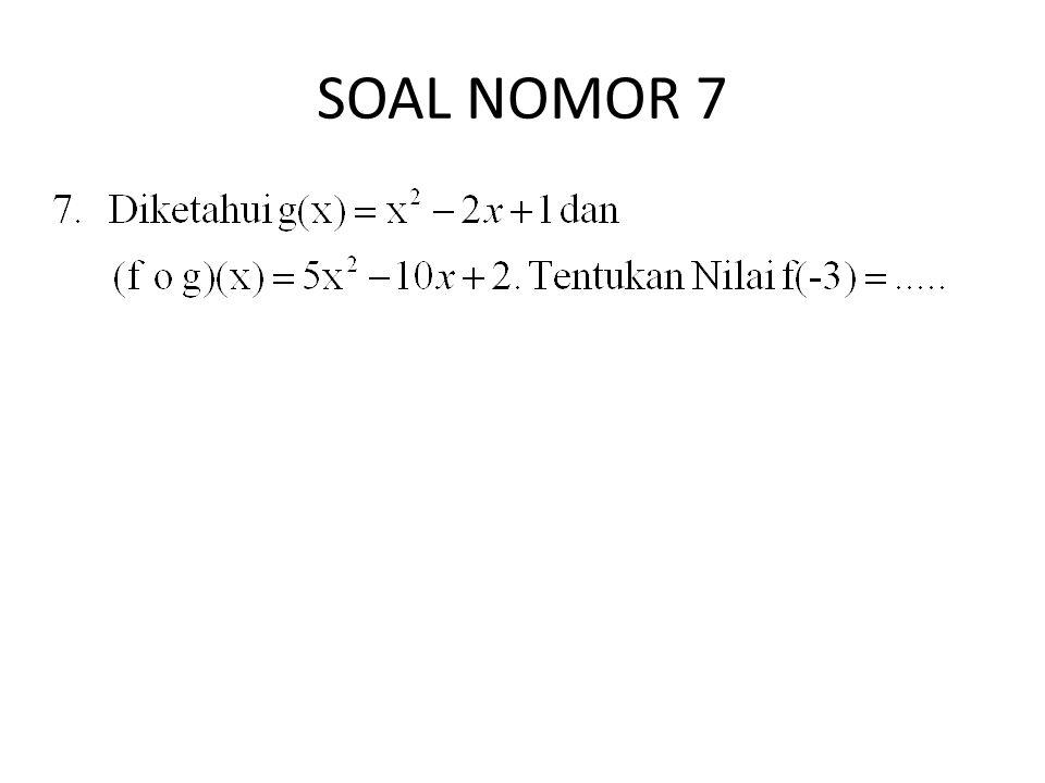 SOAL NOMOR 7