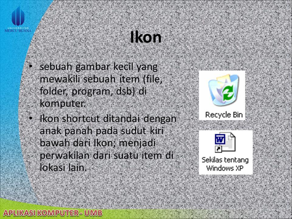 22/08/2014 Konfigurasi Desktop (cont'd) Mengatur Screen Saver Melakukan pengubahan nama ikon pada desktop Memindahkan, menghapus, dan menyalin ikon, f