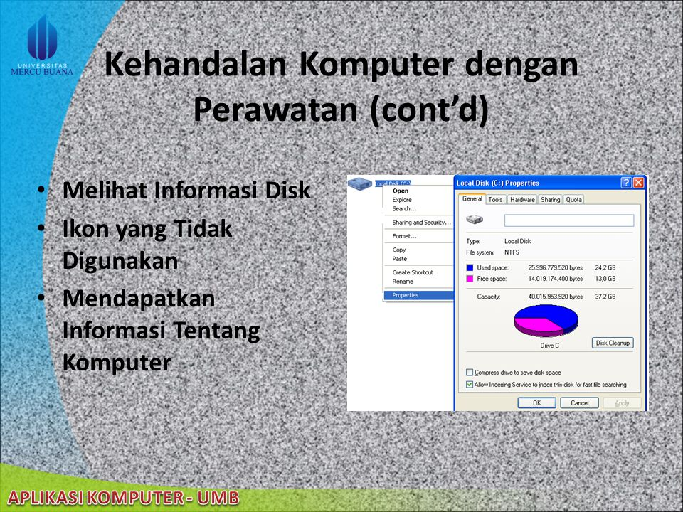 Kehandalan Komputer dengan Perawatan System Properties adalah sebuah alat pada Windows Management Instrumentation yang mengijinkan user melihat dan me