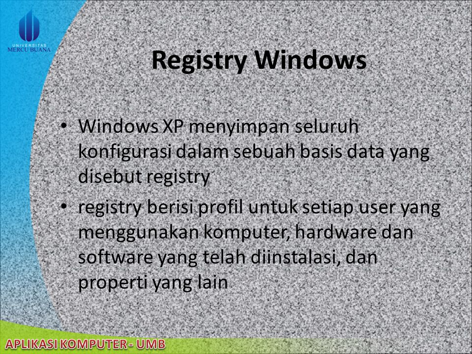 22/08/2014 Windows File Protection (cont'd) Driver Signing Untuk Windows File Signature Verification Logo Kompatibilitas Dengan Windows XP