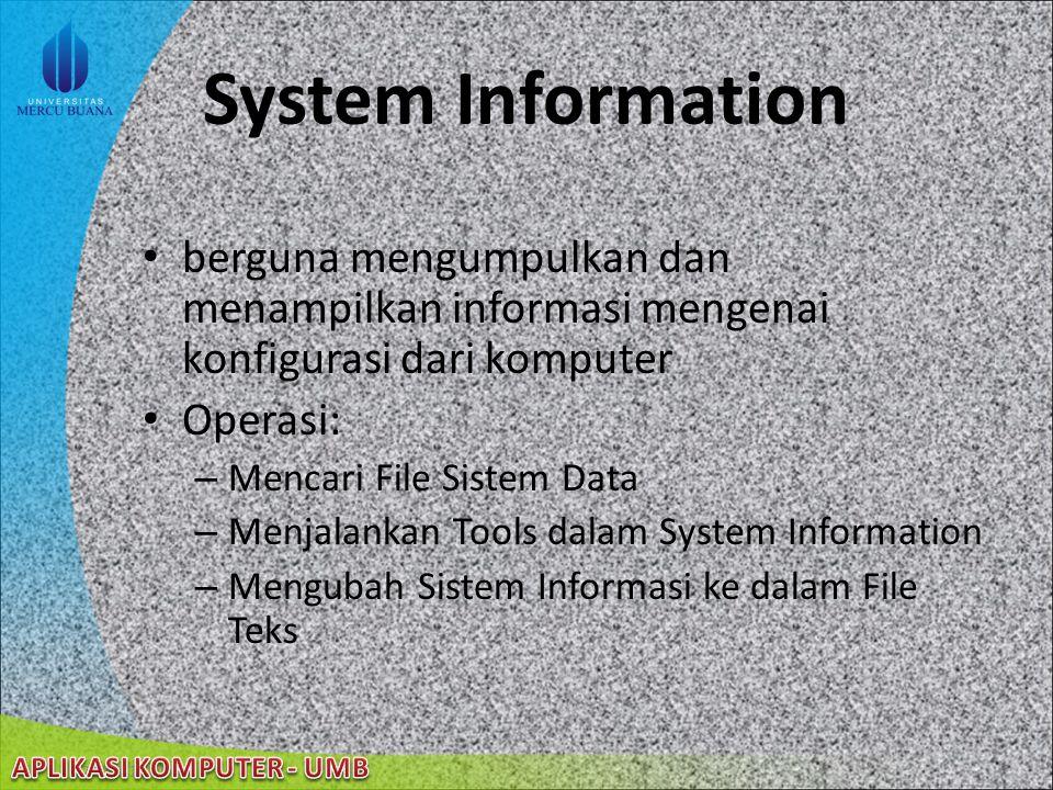 22/08/2014 Device Manager Fitur Device Manager menyediakan informasi tentang hardware pada komputer diinstalasi dan dikonfigurasi memberikan informasi