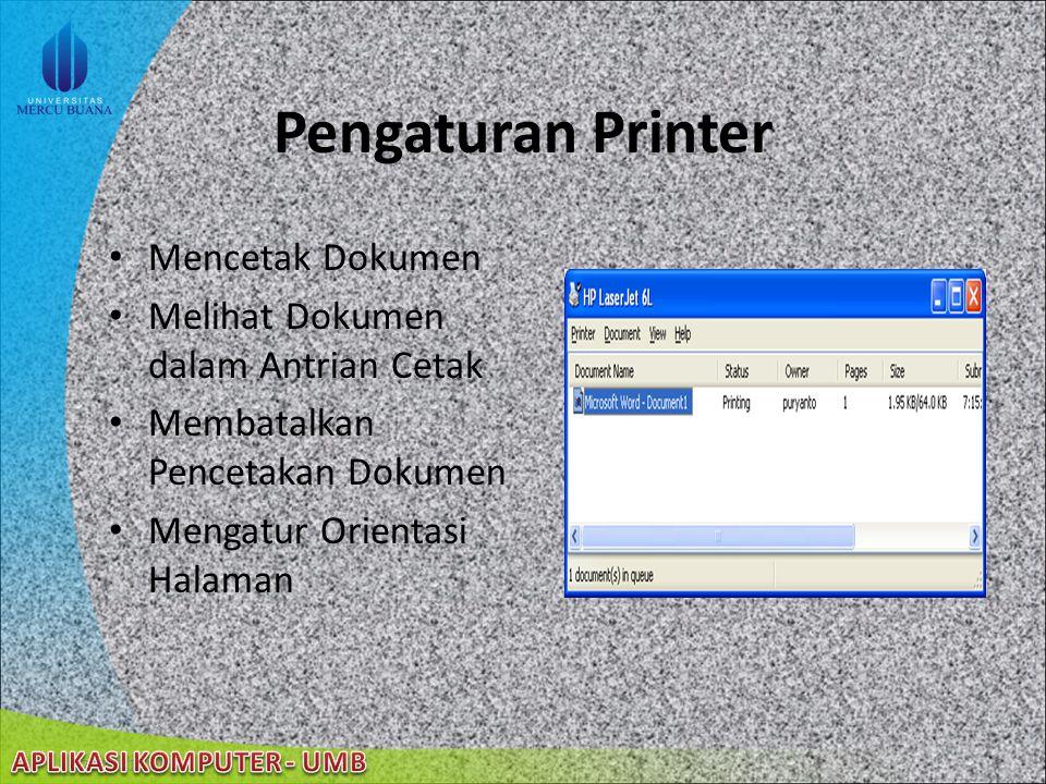 22/08/2014 Pengaturan Keyboard Mengatur Kecepatan Tanggap Windows terhadap Tekanan Mengatur Tampilan Kecepatan Kursor