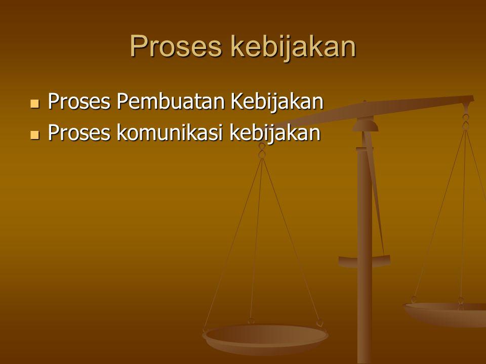Proses kebijakan Proses Pembuatan Kebijakan Proses Pembuatan Kebijakan Proses komunikasi kebijakan Proses komunikasi kebijakan