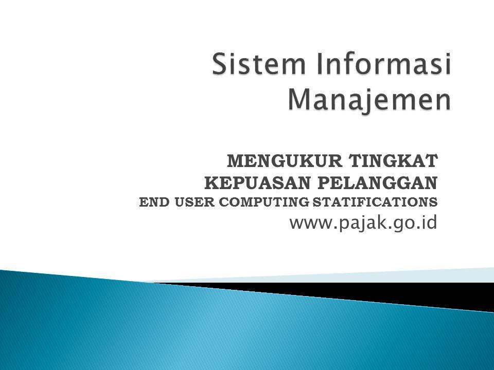  Populasi Populasi untuk mengetahui tingkat kepuasaan pelanggan dalam menggunakan situs Pajak (http://www.pajak.go.id)http://www.pajak.go.id adalah Mahasiswa Universitas Bina Darma Palembang  Sample Sample penelitian ini adalah Mahasiswa MM Universitas Bina Darma.
