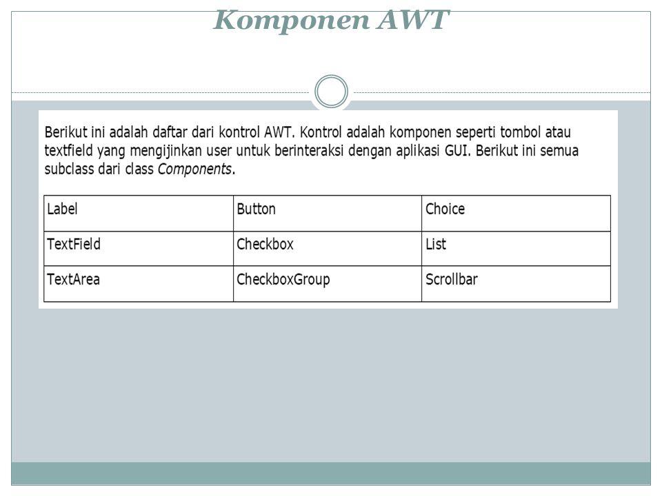 Komponen AWT