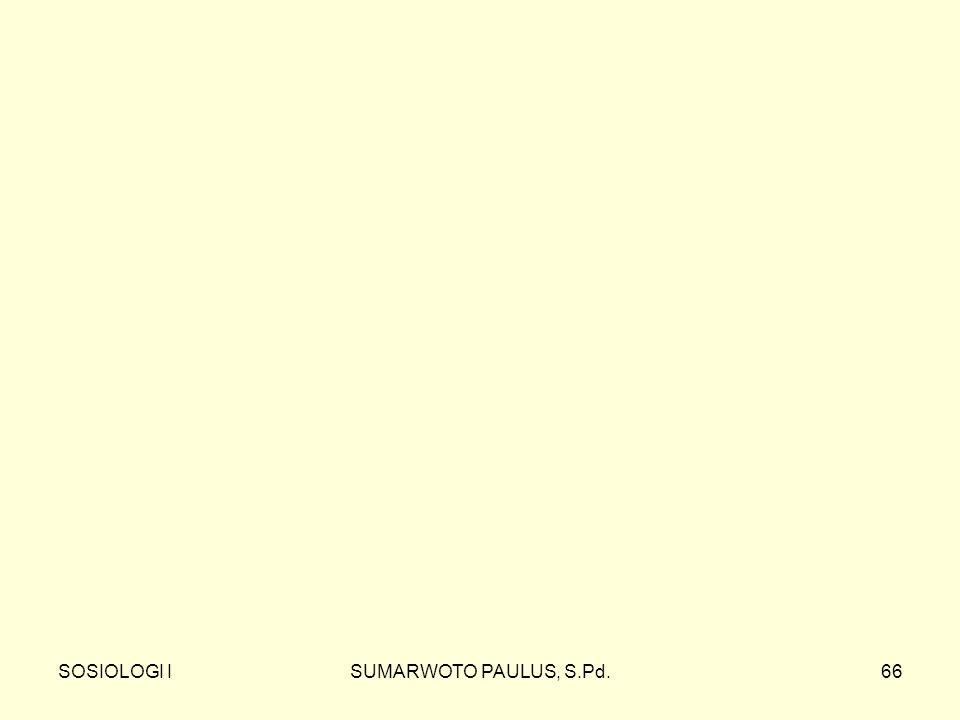 SOSIOLOGI ISUMARWOTO PAULUS, S.Pd.66