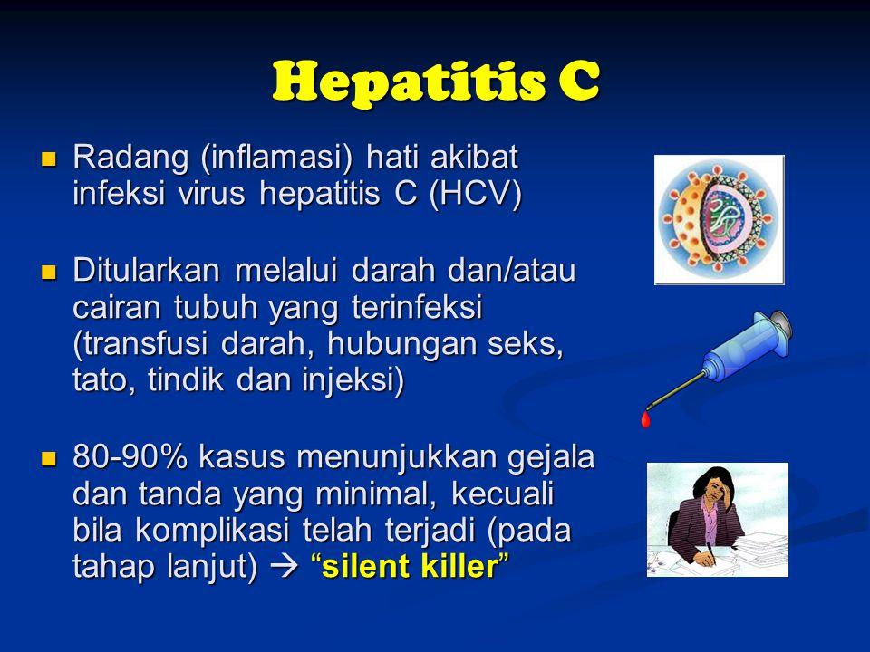 WHO Wkly Epidemiol Rec 2000;75:18-19.Infeksi HCV: Masalah Global .