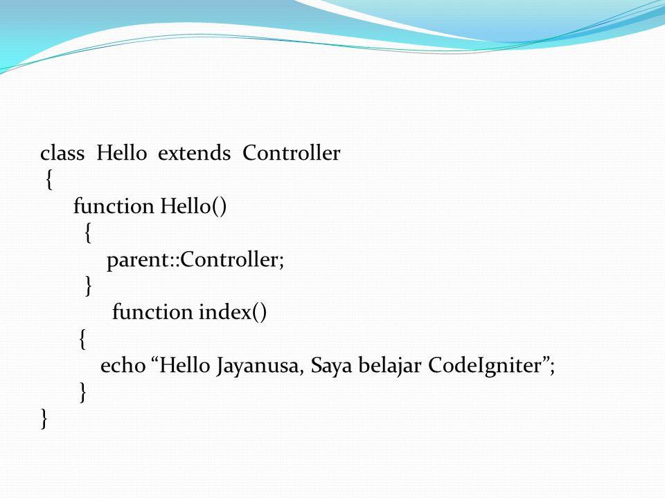 Pada saat kita membuat controller Ada hal-hal yang perlu di perhatikan 1.