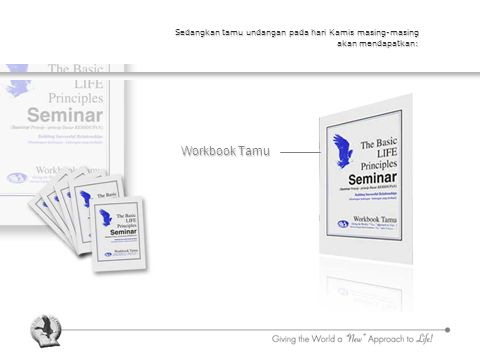 Sedangkan tamu undangan pada hari Kamis masing-masing akan mendapatkan: Workbook Tamu