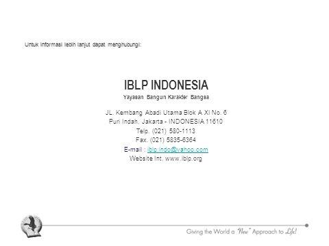 IBLP INDONESIA Yayasan Bangun Karakter Bangsa JL. Kembang Abadi Utama Blok A XI No.