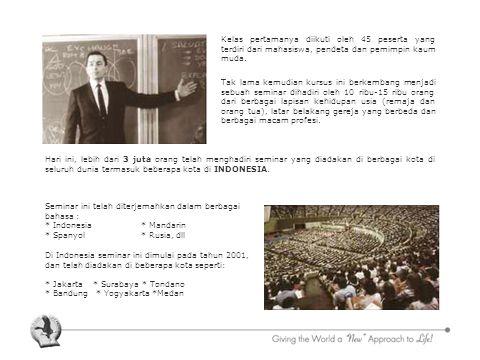 Kelas pertamanya diikuti oleh 45 peserta yang terdiri dari mahasiswa, pendeta dan pemimpin kaum muda.