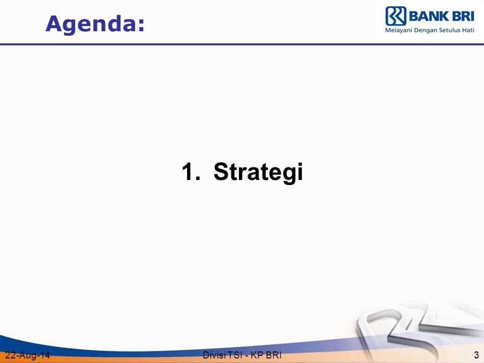 22-Aug-14Divisi TSI - KP BRI3 Agenda: 1.Strategi