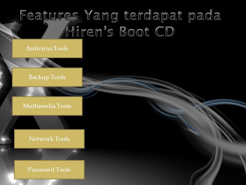 Antivirus Tools Backup Tools Multimedia Tools Network Tools Password Tools