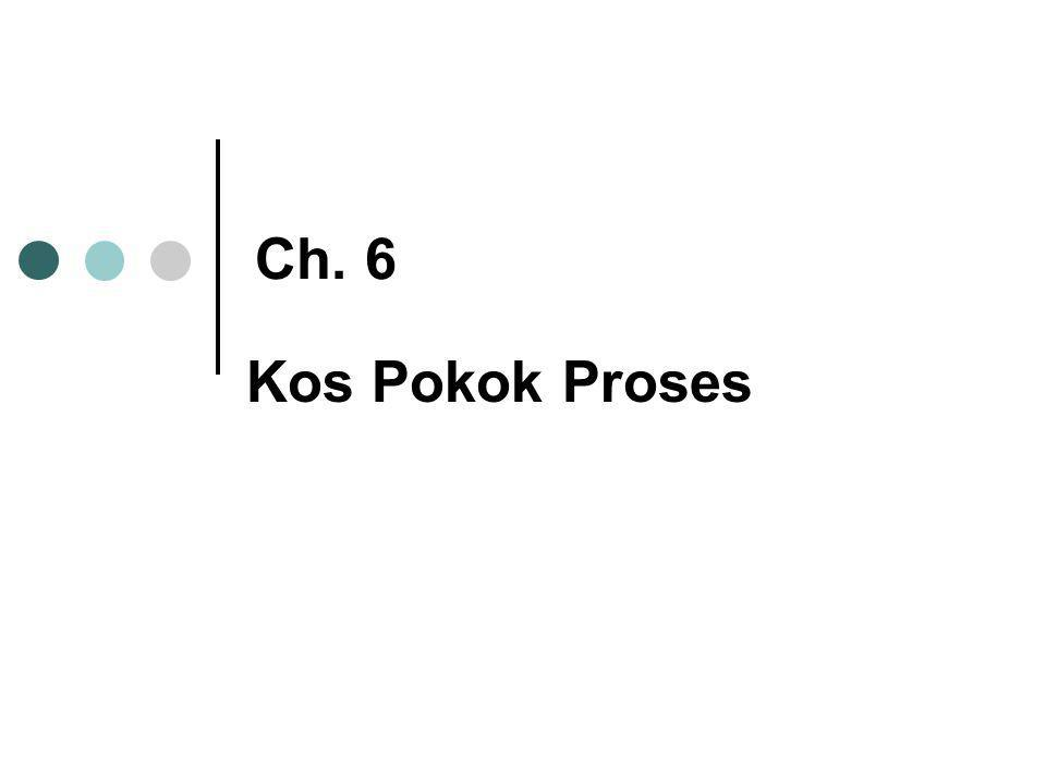 Ch. 6 Kos Pokok Proses