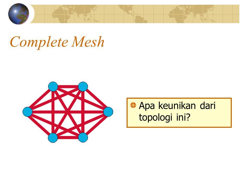 Complete Mesh Apa keunikan dari topologi ini