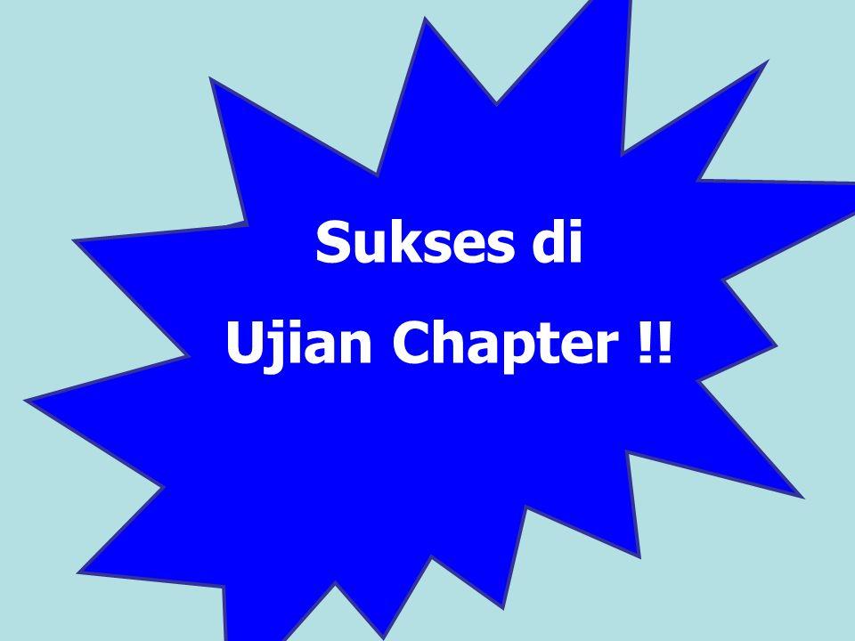 Sukses di Ujian Chapter !!
