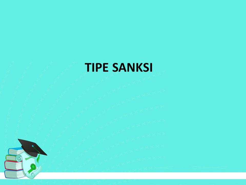 TIPE SANKSI