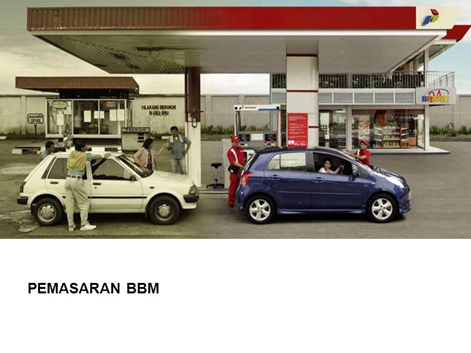 3 Pemasaran BBM Merencanakan dan mengevaluasi kebutuhan BBM Merencanakan kebutuhan BBM seluruh Indonesia Melakukan evaluasi dan mengembangkan sarana infrastruktur Membuat perhitungan kebijakan harga BBM (pricing Strategy) Koordinasi dengan Pemerintahan