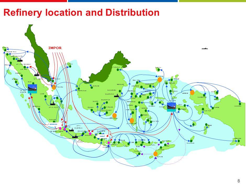 39 Strategi : Modifikasi kilang untuk memenuhi regulasi standard emisi gas buang sesuai Euro III & IV Gasoline 91 dan 95 sebagai Branded Fuel Pertamina di SPBU Pertamina di wilayah Indonesia, dengan RON 88 phase out pada tahun 2010.