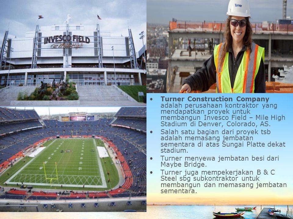 Slide master Turner Construction Company adalah perusahaan kontraktor yang mendapatkan proyek untuk membangun Invesco Field – Mile High Stadium di Den