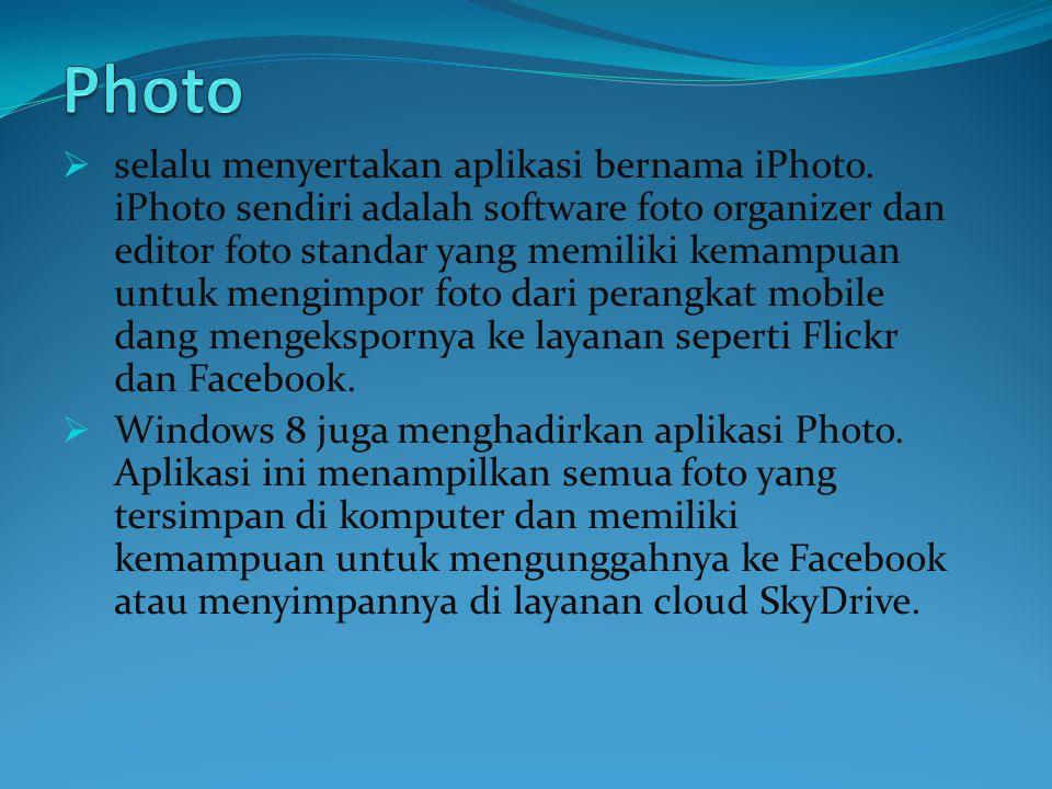  selalu menyertakan aplikasi bernama iPhoto.