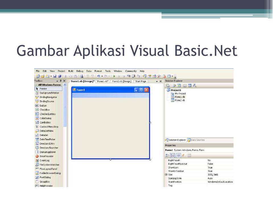 Gambar Aplikasi Visual Basic.Net