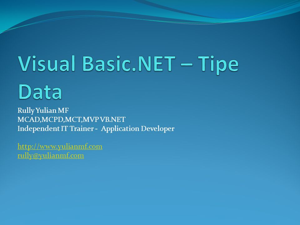 Overview Tipe Data Common Type System (CTS) Enumerasi Konversi Tipe Data Boxing And Unboxing