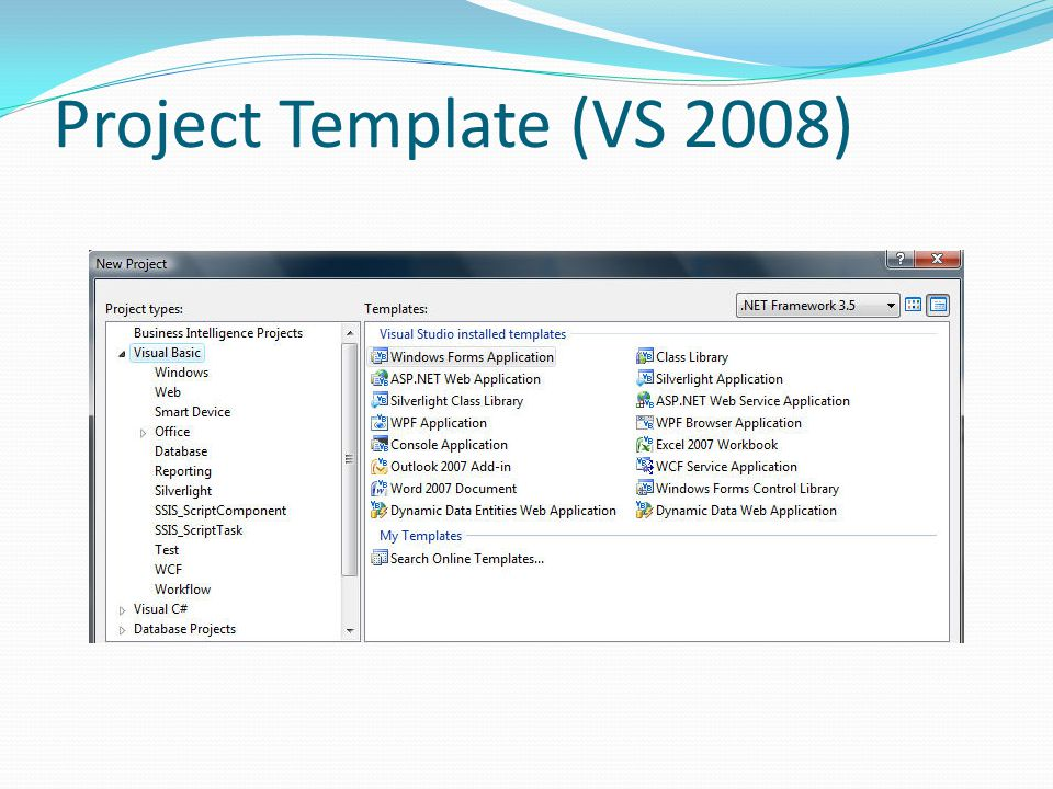 Project Template (VS 2008)