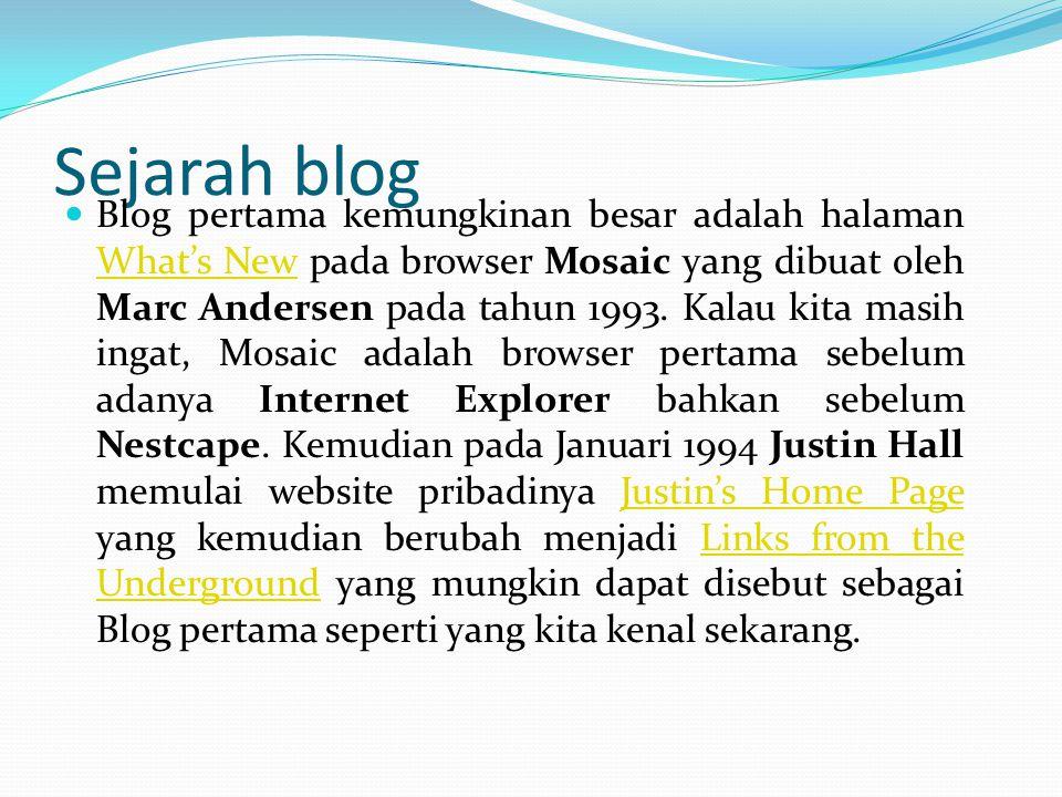 Guna blog gunanya membuat Blog.