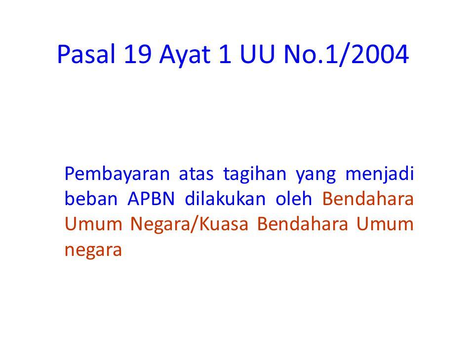 Pasal 18 ayat 2 UU No.1/2004 Pengguna Anggaran/Kuasa Pengguna Anggaran berwenang : 1.Menguji kebenaran material surat-surat bukti mengenai hak pihak p